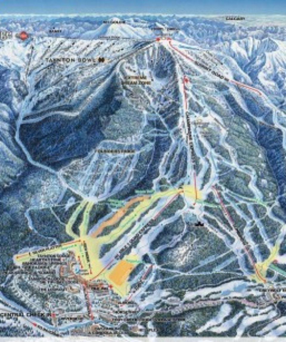 Mt Panaroma ski map